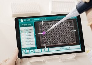 pipetting using PlatR software