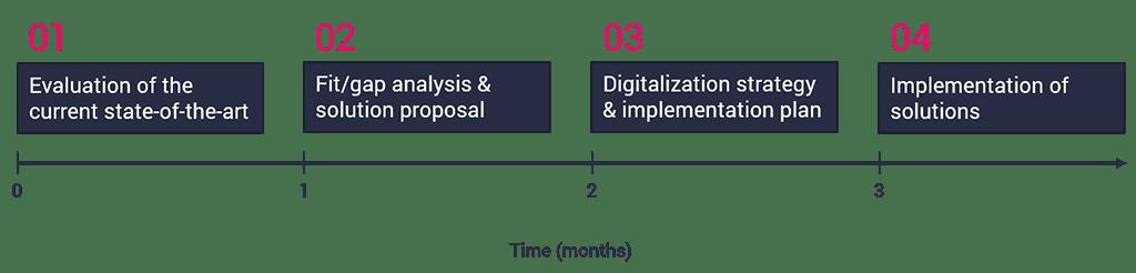 Digitalization consulting timeline