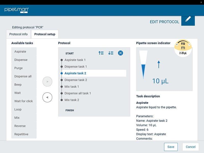 Pipetman M software screenshot